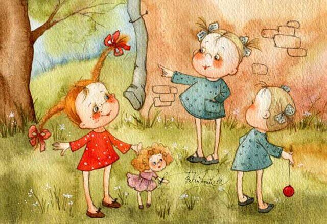 Мама и дочка смешные картинки нарисованные, картинка пляшем